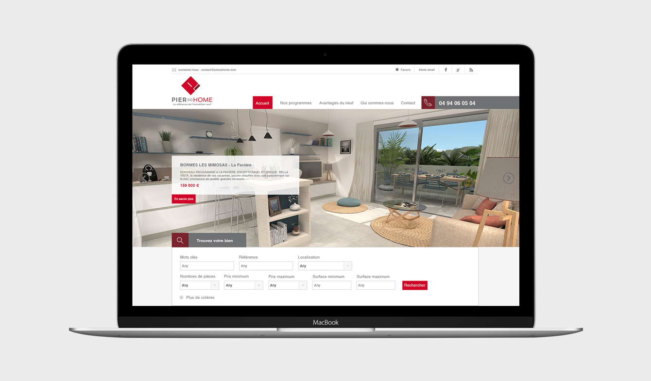 Site web immobilier neuf piersohome c o for Site immobilier