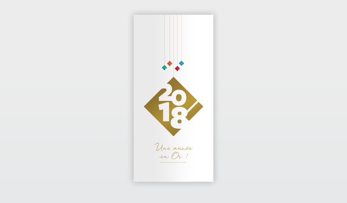 Carte de voeux groupe Piersanti - 2018