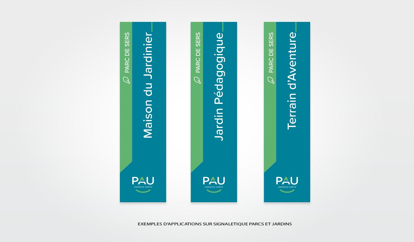 Nouvelle Identité pour le territoire de PAU - Exemples d'applications