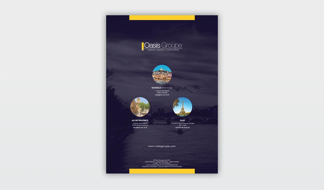 Plaquette de société immobilière - Oasis Groupe