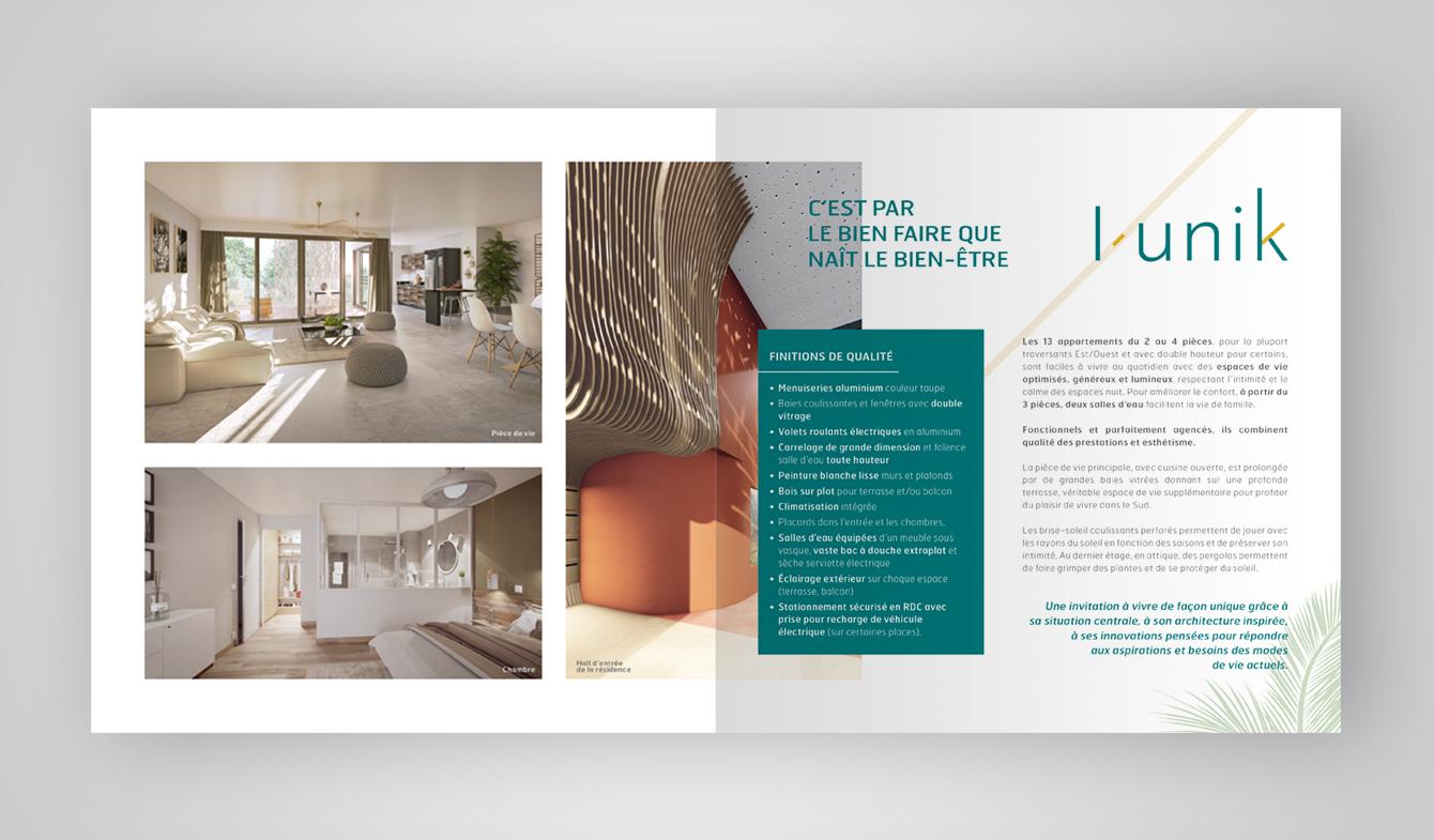 Plaquette de promotion immobilière - L'Unik