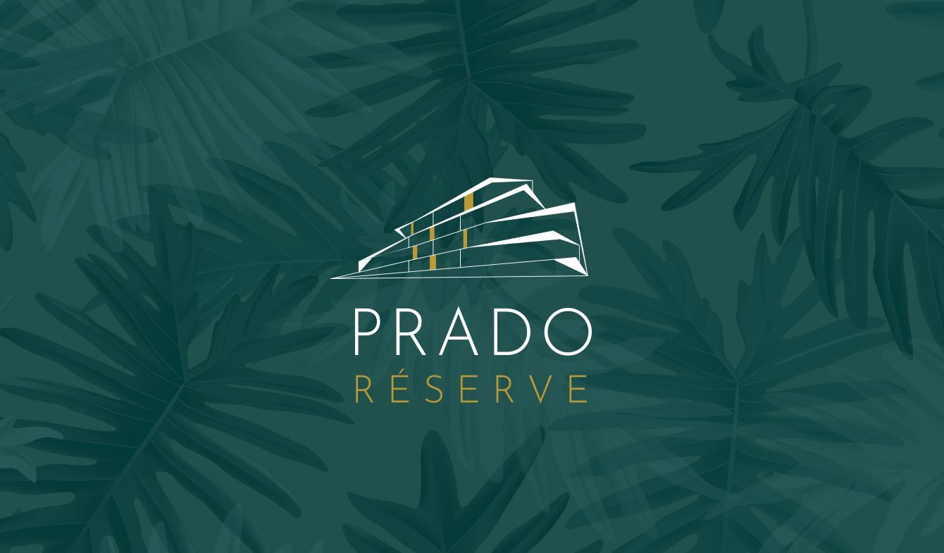 Identité Visuelle programme immobilier - Prado Réserve (logo fond foncé)