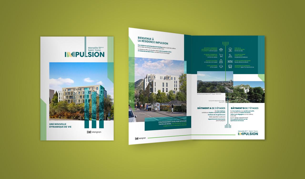 Plaquette programme immobilier IMPULSION